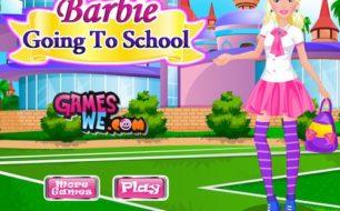 Barbie going to school