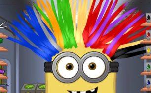 Minion at hair salon