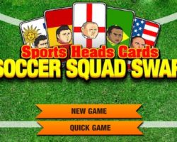 Sports heads cards soccer