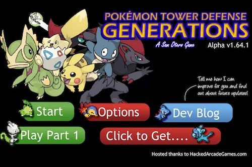 Pokemon Tower Defense 2 Generation