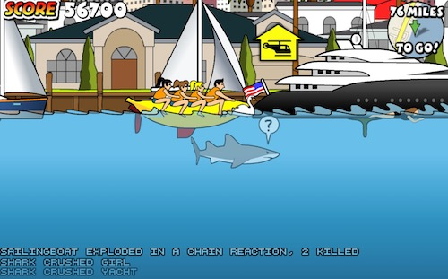 Miami shark attack unblocked games for Unblocked fishing games