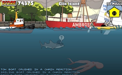 Shark fishing games unblocked gamesworld for Unblocked fishing games