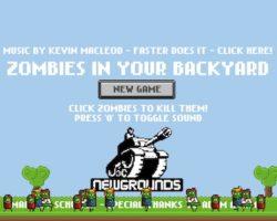 zombies in backyard