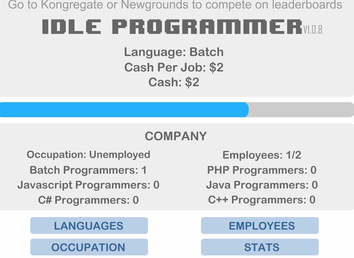 Idle Programmer
